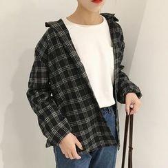 MePanda - 格子寬鬆襯衫