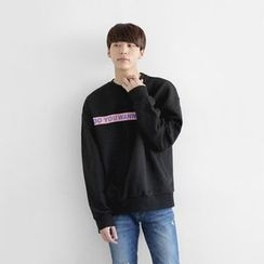 Seoul Homme - Round-Neck Lettering T-Shirt