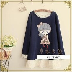 Fairyland - Girl Appliqué Long-Sleeve Top