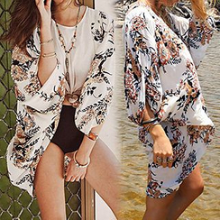 Sunset Hours - Floral Print Cover-Up