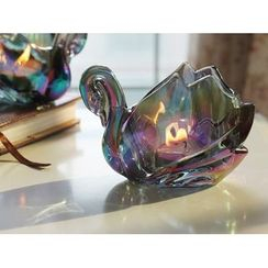 Thula Design - Swan Glass Candle Holder