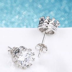 Zundiao - Sterling Silver Crystal Studs