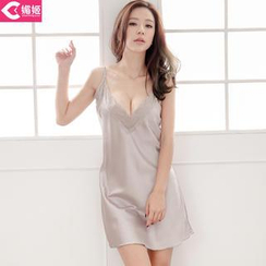 Charming Lover - Lace Panel Nightdress