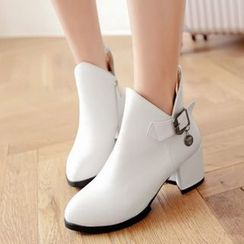 Tomma - Block Heel Ankle Boots