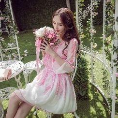 Amella - Printed Chiffon Dress