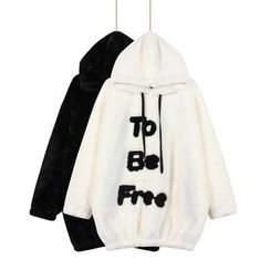 Momewear - Hooded Lettering Long Pullover