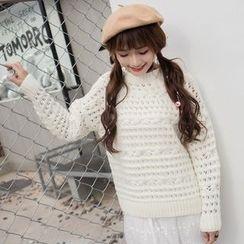 FR - Crochet Knit Top