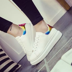 Yoflap - Platform Lace Up Sneakers