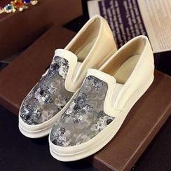Tomma - 亮片網紗厚底輕便鞋
