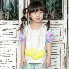 Lemony dudu - Kids Puff Sleeved Panel Top