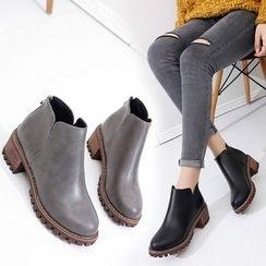 Sleeko - Chunky-Heel Ankle Boots