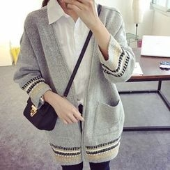 Pecora - Patterned Long Cardigan