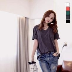 J-ANN - V-Neck Short-Sleeve T-Shirt