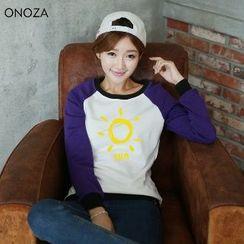Onoza - 太陽印花插肩袖衛衣