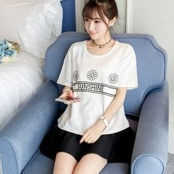 Colorful Shop - Short-Sleeve Printed T-Shirt