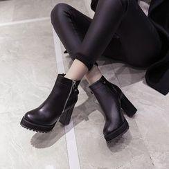 Monde - 粗跟厚底短靴