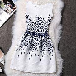 Katie Bloom - Sleeveless Print Dress