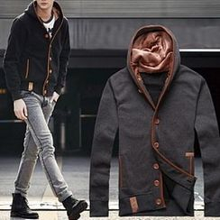 Evzen - Buttoned Hooded Jacket
