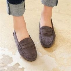 PINKSISLY - Faux-Suede Loafers