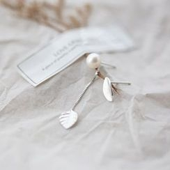 Love Generation - Leaf Non-Matching Earrings