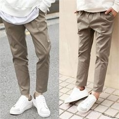 TOMONARI - Drawstring-Waist Tapered Chino Pants