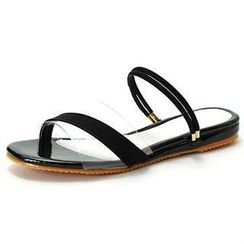 MODELSIS - Clear-Strap Sling-Back Sandals