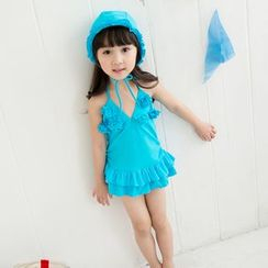 Mermaid's Tale - Kids Set: Swim Hat + Swimdress