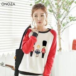 Onoza - Raglan Printed Pullover
