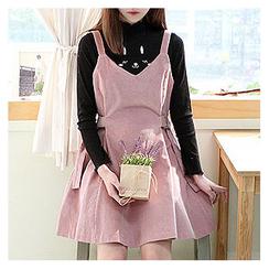 Sechuna - Suspender A-Line Dress