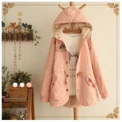 Angel Love - Embroidered Hooded Parka