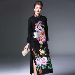 Elabo - 刺绣中长旗袍