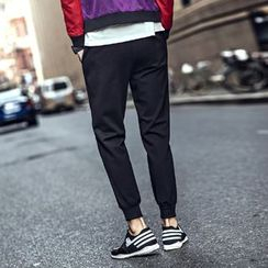 KANGI - Drawstring Slim-Fit Sweatpants