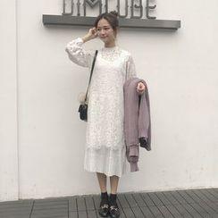 Dute - 長袖蕾絲連衣裙
