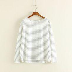 Mushi - Pinstriped Long Sleeve T-Shirt