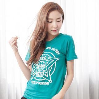 RingBear - Star & Letter-Print T-Shirt