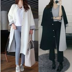 Seoul Fashion - Neoprene Long Jacket