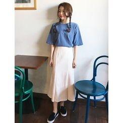 FROMBEGINNING - A-Line Maxi Skirt