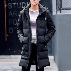 Bay Go Mall - Hooded Long Down Coat