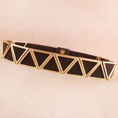 Goldenrod - Triangle Accent Elastic Belt