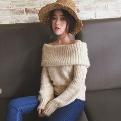 Anlay - Loose-Fit Off-Shoulder Sweater