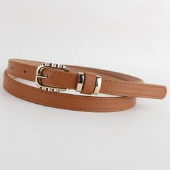 Goldenrod - Faux-Leather Slim Belt