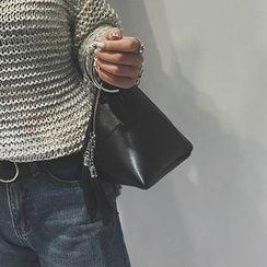 Petal Princess - 圈環裝飾吊蘇拉鍊手提包