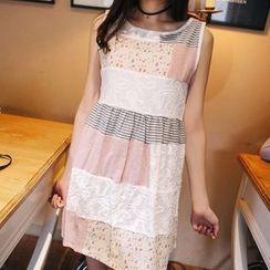 Wimi girls - Sleeveless Panel A-line Dress