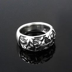 Sterlingworth - Flower Embossed Tinted Sterling Silver Ring