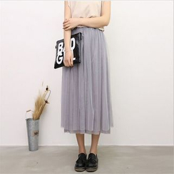 Out & About - Mesh Midi Skirt