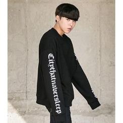 ABOKI - Lettering Print Sweatshirt