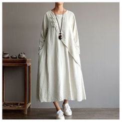 Rosadame - 長袖麻質連衣裙