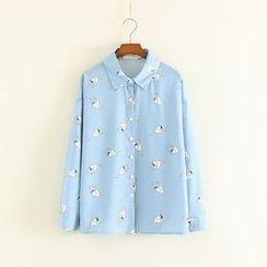 Mushi - Cat Print Shirt