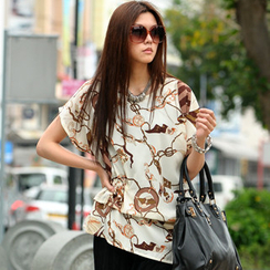 SO Central - Printed Asymmetrical Top