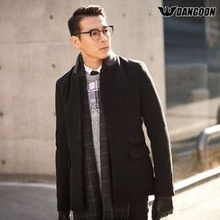 DANGOON - Contrast-Collar Single-Breasted Jacket